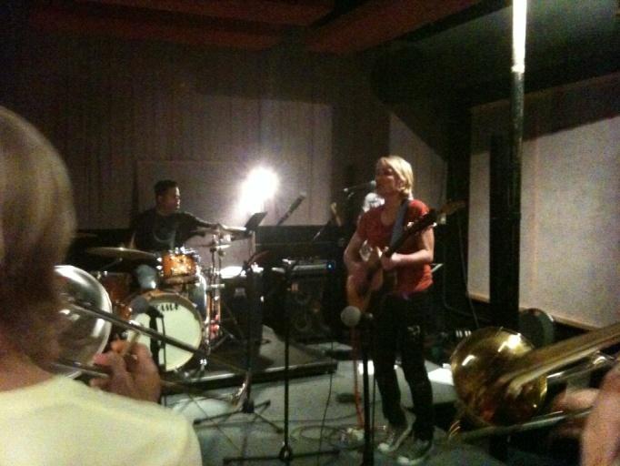 Jill Sobule rehearses with Bonerama